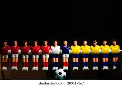 plastic foosball players