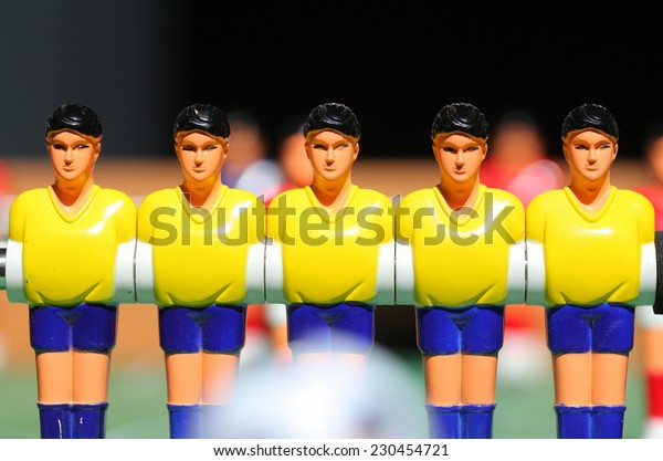 plastic football player. board game