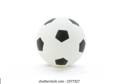 plastic football with white background