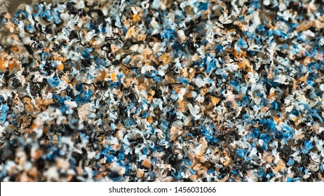Plastic gets into sea, gradually destroyed by waves and sun. Plastic particles accumulate lumps under influence of wind then formed garbage Islands in Ocean. Plastic contamination of water environment
