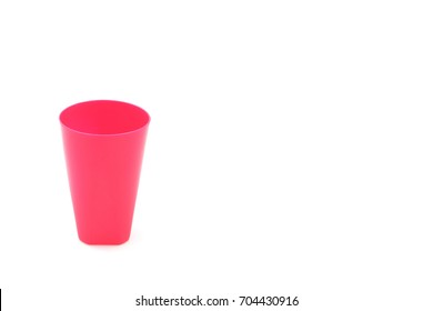 Plastic glass isolated on white.