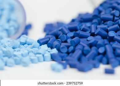 plastic granules close up for molding