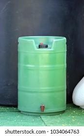 Plastic Green Gardening Barrel With Spigot