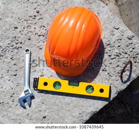 6f1c76a53d8 Plastic Hard Hat Construction Helmet Builders Stock Photo (Edit Now ...