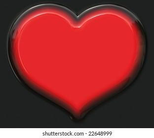 Plastic Heart Button