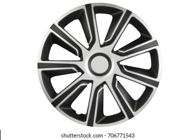 Plastic hubcap isolated on white background