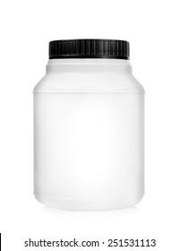 Plastic jar isolated on white