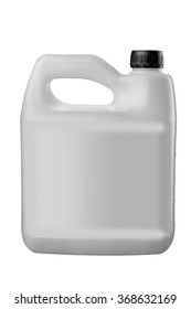 plastic jerrycan isolated on white background.