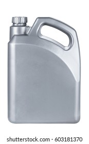 Plastic Lubrication Oil Container on White Background