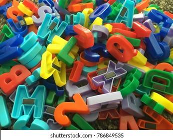 Plastic Magnetic Letters for Preschoolers