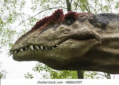 Plastic Mannequin carnivorous dinosaur Allosaurus.