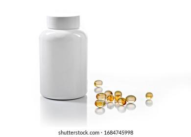 plastic medicine bottle transparent drug capsules