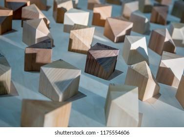 plastic model of futuristic neighborhood