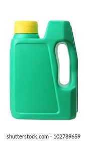 Plastic Oil Bottle on White Background