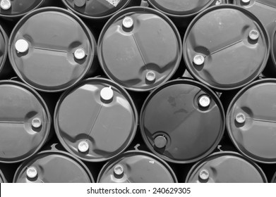 plastic oil tank,black and white concept.