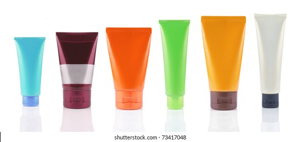 plastic package of product isolated over white background. high resolution