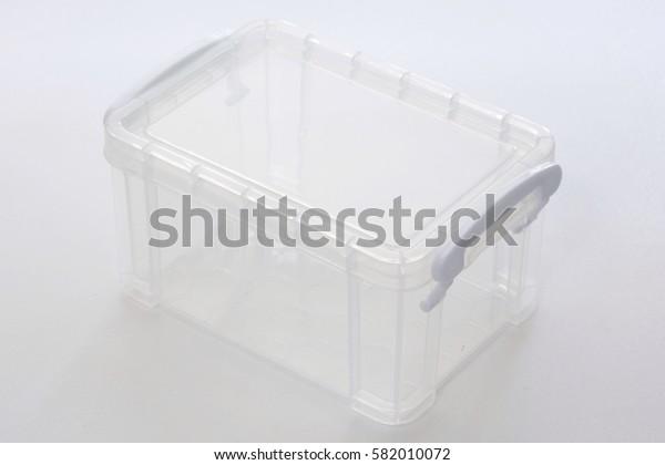 Plastic packing box for storage equipment.