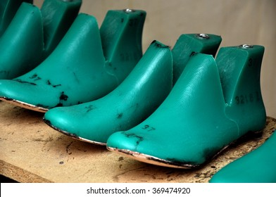 Plastic pads used for making shoes.