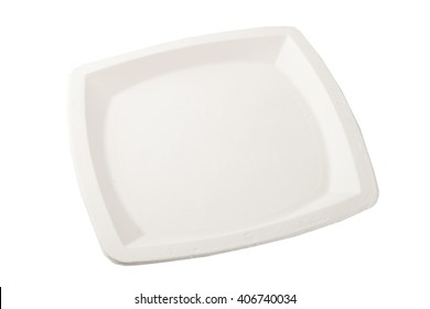 plastic plate isolated on white background