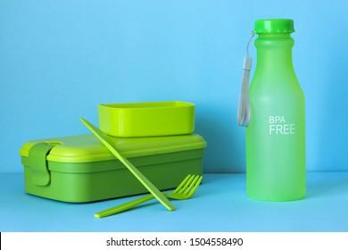 plastic reusable cutlery flat lay, bpa free, zero waste