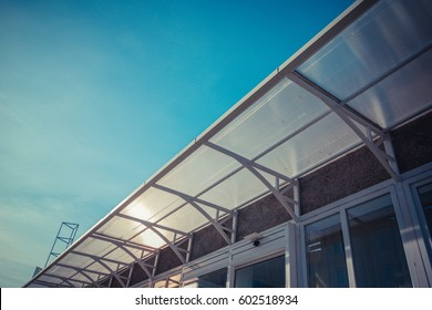 plastic roof on a building