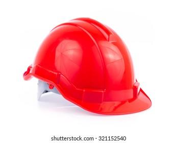 Plastic safety helmet isolated on white background