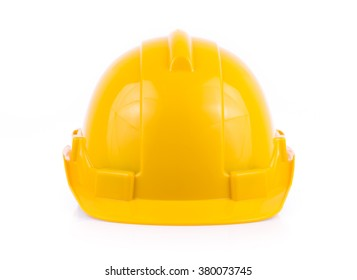Plastic safety helmet isolated on white background