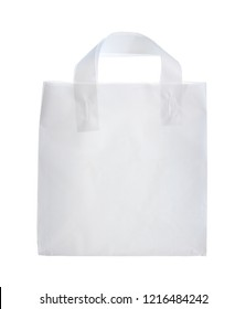 Plastic shopping bag (with clipping path) isolated on white background