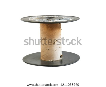 Plastic Spool Electric Wire Isolated On Stock Photo Edit Now