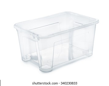 Plastic storage container isolated on white