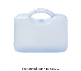 Plastic Storage Container On White Background