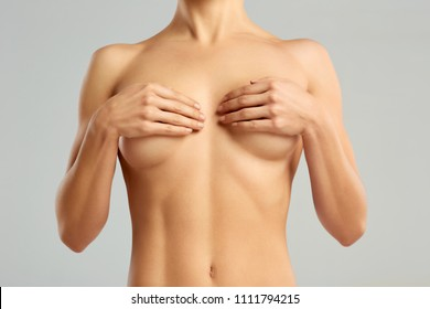 Plastic surgery of the female breast. Trace from operation on the female breast