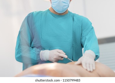 plastic surgery liposuction practiced for a professional doctor