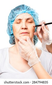 plastic surgery. older women want to be beautiful , too . the return of youth . stroking the path to face further changes