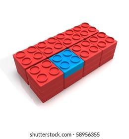 plastic toy brick