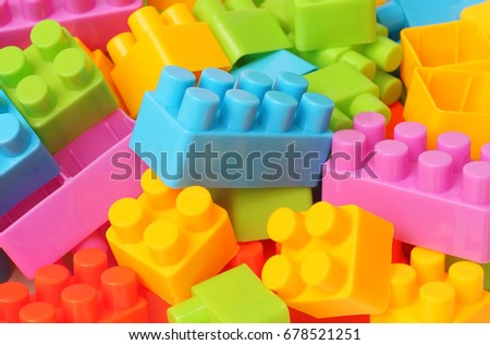 plastic toy building blocks