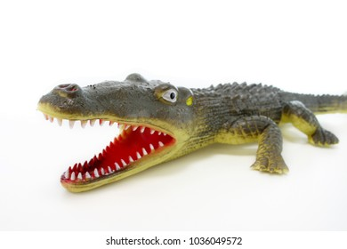 plastic toy crocodile alligator real childen mouth open teeth