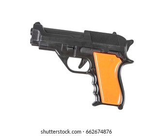 plastic toy gun isolated isolated on white