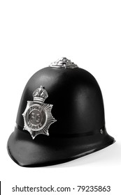 Plastic toy helmet made after a model of metropolitan London police helmet