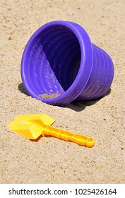 plastic toys and sand