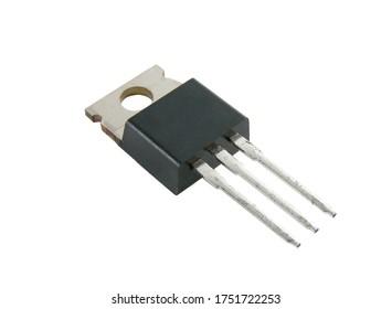 Plastic transistor isolated on white background