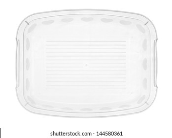 Plastic tray isolated on white background