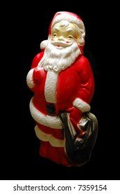 Plastic vintage santa