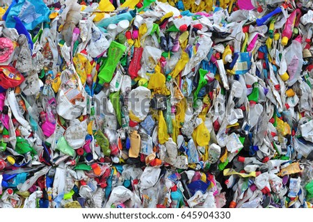 Plastic waste bottles polyethylene recycling