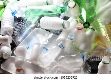 Plastic waste - food packaging