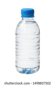 Plastic water bottle disposable (with clipping path) isolated on white background