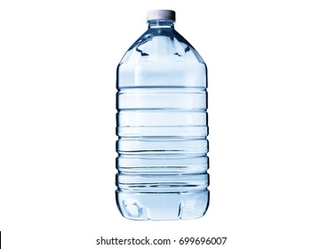 plastic water bottle isolated