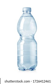 plastic water bottle isolated on white with clipping path
