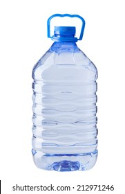 plastic water bottle isolated on white