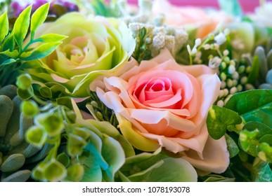 Plastic wedding bouqet